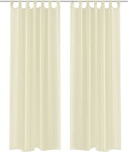 Cream Sheer Curtain 140 x 175 cm 2 pcs61-Serial