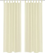 Cream Sheer Curtain 140 x 225 cm 2 pcs62-Serial