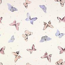 Cream Small Polka Dot Butterflies PVC Vinyl