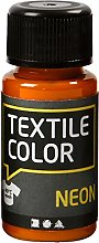 Creativ Company 50-Piece Textile Color, Neon Orange