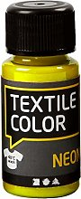 Creativ Company 50-Piece Textile Color, Neon Yellow