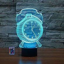 Creative 3D Alarm Clock Optical Illusion Night