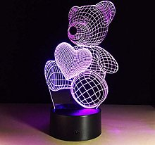 Creative 3D Bear Night Light 7 Colors Changing USB