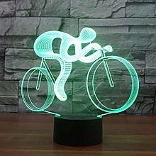 Creative 3D Bicycle Optical Illusion Night Light 7