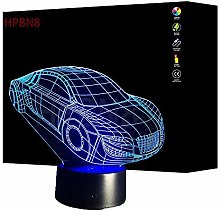 Creative 3D Car Optical Illusion Night Light 7