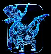 Creative 3D Fire Dragon Night Light 7 Colors