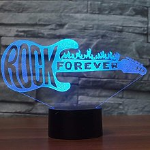 Creative 3D Guitar Night Light 7 Colors Changing