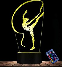 Creative 3D Gymnastics Night Light Optical