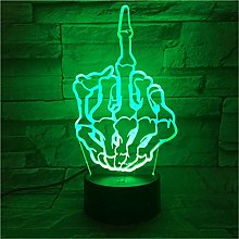 Creative 3D LED Lamp Skeleton Hand 7 Colors
