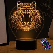 Creative 3D Lion Night Light 16 Colors Changing