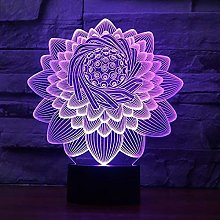 Creative 3D Lotus Flower Night Light 7 Colors