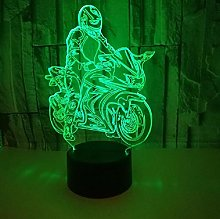 Creative 3D Motorcycle Led Table Lamp Decoration