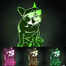Creative 3D Shar Pei Dog Night Light 7 Colors