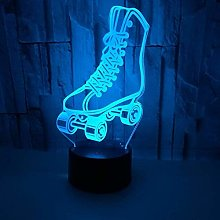 Creative 3D Skate Shoes Night Light 7 Colors