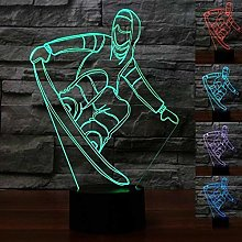 Creative 3D Skateboard Night Light 7 Colors