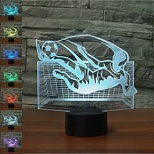 Creative 3D Soccer Goalkeeper Night Light 7 Colors