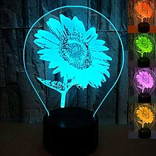 Creative 3D Sunflower Night Light Optical Illusion