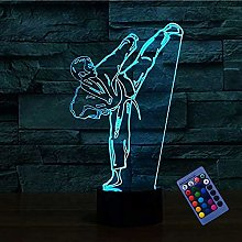 Creative 3D Taekwondo Night Light 16 Colors