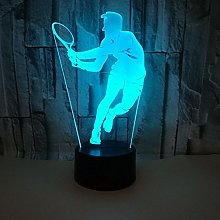 Creative 3D Tennis Night Light 7 Colors Changing