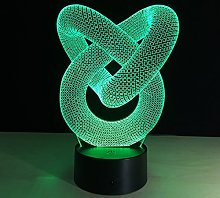 Creative Abstract Body 3D Night Light USB Touch