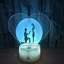 Creative Art Lighting 3D Acrylic LED lamp USB