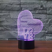 Creative Bedside 3D Table Lamp Valentine's Day