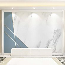 Creative Blue Geometric Wallpaper Living Room Tv