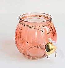 Creative Bohemian Crystal Vase Champagne Red Mini