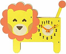 Creative Cartoon Lion Wall Clock, Cute Animal Lion