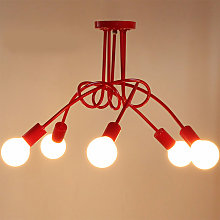 Creative Ceiling Light 5 Heads Industrial