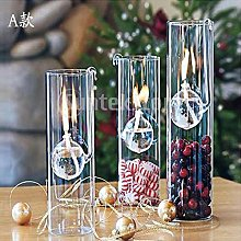 Creative Clear Glass Oil Lamp Reading Room Light