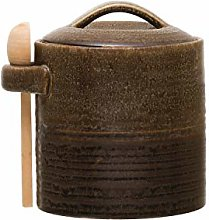 Creative Co-Op Brown Stoneware Wood Spoon