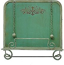 Creative Co-op Metal Cookbook Holder, Aqua