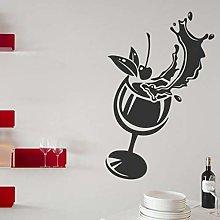 Creative Cocktail Glass Restaurant Kitchen Wall