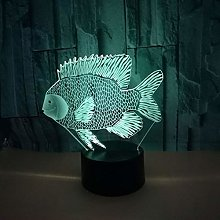 Creative Fish 3D Led Table Lamp Colors Gradual