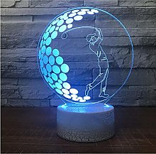 Creative Gifts Led 3D Desk Lamp Lights Remote