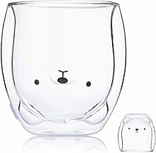 Creative Glass Cup Double Glass Cup Cute Double