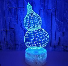 Creative Gourd 3D Lamp LED USB Mood Illusion Night
