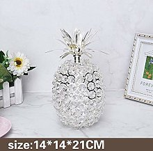 Creative Home Metal Crystal Pineapple Apple Pear