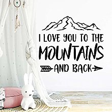 Creative I Love You to The Mountain Back Wall