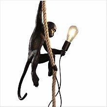 Creative Industrial Monkey Chandelier Hemp Rope