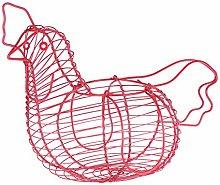 Creative Iron Art Eggs Storage Basket Chicken