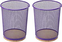 Creative Iron Wire Mesh Trash Can Set Living Room