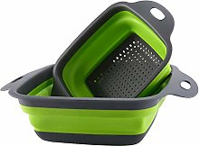Creative Kitchen Tools Folded Green Square Sieve
