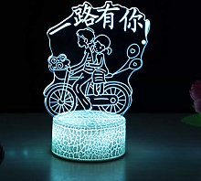Creative LED 3D Night Light Luminous Base Love USB