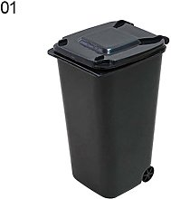 Creative Mini Wheelie Trash Can Storage Bin