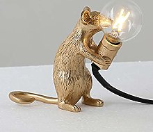 Creative Mouse Light Table Lamp Mouse Shape Resin