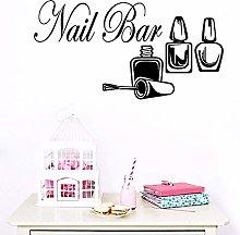 Creative Nail Shop Wall Stickers Bar Counter