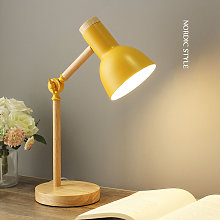 Creative Nordic Wooden Art Iron LED Folding Simple