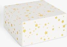 Creative Party Star Cake Box, White/Gold